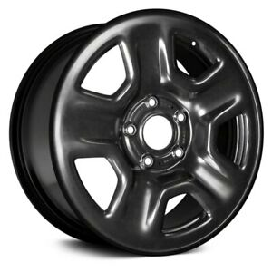 For Jeep Wrangler 18 19 Steel Factory Wheel 17x7 5 5 Slot All Painted Black