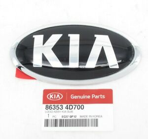 Genuine Oem Kia 86353 4d700 Rear Hatch Emblem Badge 2016 Sorento 2014 Sedona