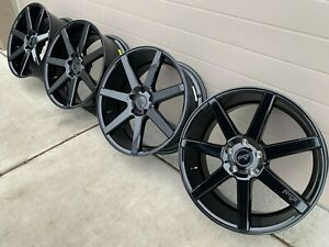20 Niche Verona Black Wheels Rims 5x120 Bmw 20x9 35 335 340i Rotiform Hre Bbs