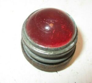 Vintage Vehicle Signal Light Small Round Red Glass