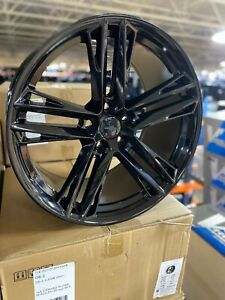 4 New 20 Zl1 Camaro Replica Wheels Oe 20x10 20x11 Gloss Black Staggered Wheels