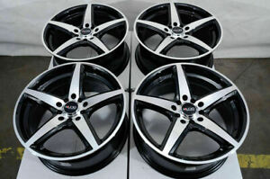17x7 5 Black Wheels Fits Dodge Dart Aero Sxt Chevrolet Cobalt Hhr Malibu Rims