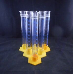 Kimax Glass 100ml Educational Graduated Cylinder Single Scale W Hex Base 6 pack