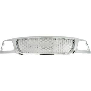 Grille For 99 2003 Ford F 150 F 250 Super Duty Chrome Plastic