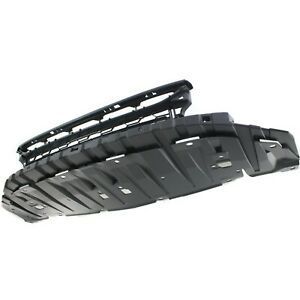 Bumper Grille For 2013 2014 Honda Civic Center Black Plastic