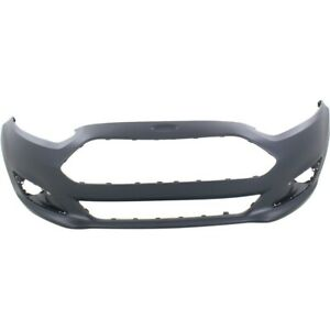 Front Bumper Cover For 2014 2015 Ford Fiesta W Fog Lamp Holes Primed