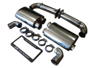 Top Speed Pro 1 Stainless Steel Rear Exhaust For 2007 2009 Porsche 997 1 Turbo