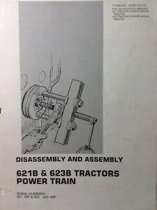 Caterpillar 621b 623b Tractor Scraper Earthmover Power Train Service Manual 45p