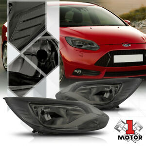 Smoke Tinted Headlight Clear Corner Turn Signal Reflector For 12 14 Ford Focus