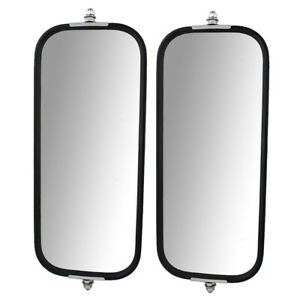 New Pair Universal West Coast Truck Side Mirror Head 6 5 X 16 With Sturdy Back