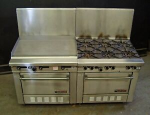 Garland H286 Series Griddle And Range With Standard Ovens Nat Gas Both Units