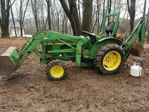 John Deere 850 4x4 Loader Backhoe Good Cond Low Hours 904