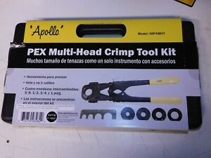 Apollo Pex 69ptkh0015k Multi head Crimp Tool Kit 3 8 1 2 3 4 1 Inch