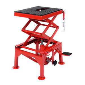 300lb Motorcycle Hydraulic Scissor Floor Jack Lift Hoist Center Stand Lift Table