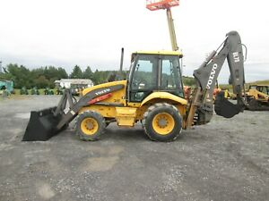 Volvo Bl70 Backhoe Used Diesel 4x4 Cab Heat Outriggers Extendahoe