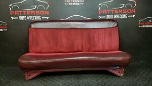 1988 Chevy Pickup 1500 Front Manual Cloth Bench Seat Maroon Trim Code 24i