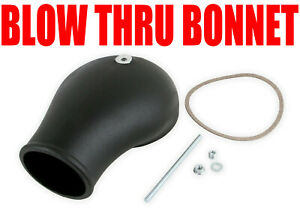 Holley 120 232 Efi Blow Thru Carb Bonnet Hat 4150 Carb Hat Black Finish New