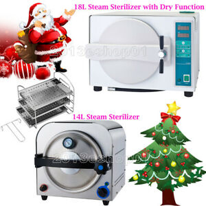 14 18liter Dental Autoclave Medical Steam Sterilizer With Drying Function