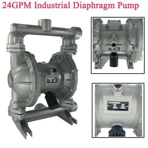 24gpm Air operated Double Diaphragm Pump 115psi 1 Inlet Outlet Industry Fluid