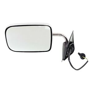 Power Side View Mirror Chrome Driver Left Lh For 94 97 Dodge Ram Pickup Truck