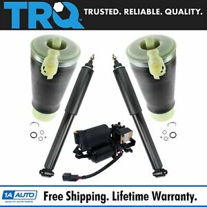 5 Piece Air Suspension Kit Compressor With Rear Air Spring Shock Absorber