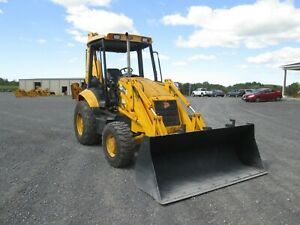 Jcb 214 Tractor Loader Backhoe Used 4x4 Turbo Diesel Rear 3rd Valve Hitch
