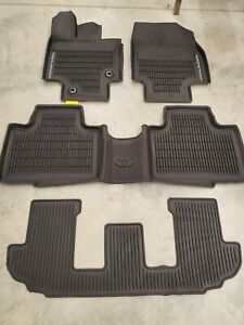 2020 Toyota Highlander Floor Mats Rubber All Weather Genuine Oem 4pc Set New