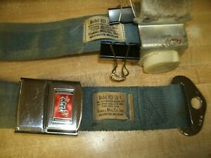 1965 Gto Olds Chevelle Blue Seat Belt Return Excellent Condition