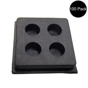 100 2 X 2 X 3 4 Anti vibration Pads Rubber Air Compressor Isolation Pads