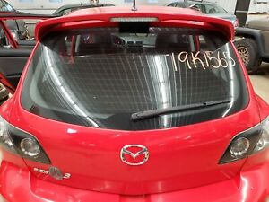 2008 Mazda Speed3 Rear Trunk Hatch Liftgate Tailgate W Spoiler True Red A4a