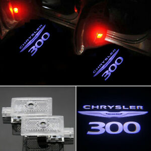 2x White Led Door Ghost Logo Projector Puddle Light Hd For Chrysler 300 2005 19