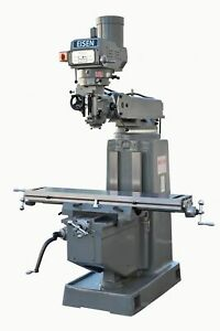 Eisen S 4a Milling Machine 10 x54 Table 5 Hp Nt40 Free 2 axis Dro