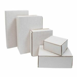 White Shipping Cardboard Boxes Postal Mailing Gift Packet All Sizes