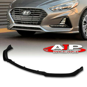 Front Bumper Spoiler Lip Splitter Kit 3pcs Black For 2018 2019 Hyundai Sonata