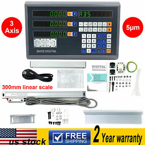 3 Axis Dro Digital Readout Display 300mm Ttl Linear Scale For Bridgeport Milling