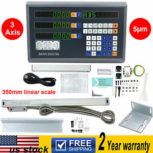 3 Axis Dro Digital Readout Display 350mm Ttl Linear Scale For Bridgeport Milling