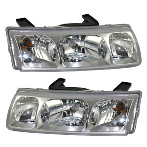 Pair Set Headlights Headlamps Lens With Housing Assembly For 2005 Saturn Vue