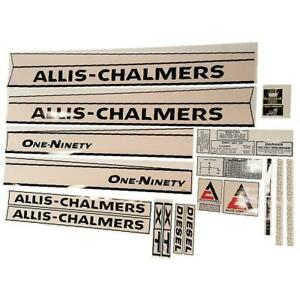 9001 1900 Complete Decal Set For Allis Chalmers 190xt