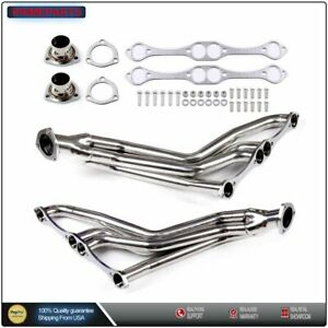 For Small Block Chevy 265 400 V8 Racing Exhaust Manifold Fat Fender Well Header