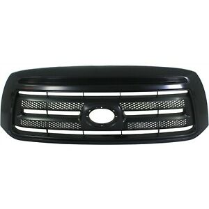 Grille For 2010 2013 Toyota Tundra Black Plastic