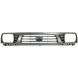 Grille For 95 97 Toyota Tacoma Gray Shell W Black Insert Plastic