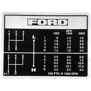 Fits Ford Tractor Shift Pattern Decal For 8 speed 2000 231 2600 3000 3400 3600 5