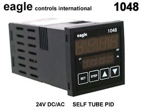 1048 Eagle Controls Temp Controller Digital 24v Ac dc Self Tune 1 16 Din