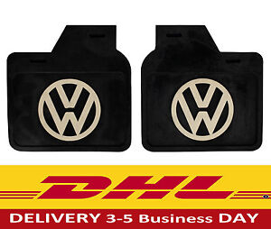 Vw Bug Super Beetle Kfer Black Mud Flaps These Fit Post 1967 Cars