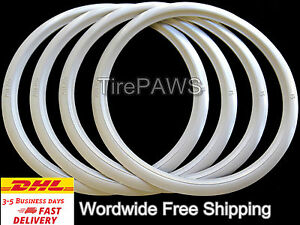16 Lowrider Slim Profile White Wall Portawall Universal Trim Set