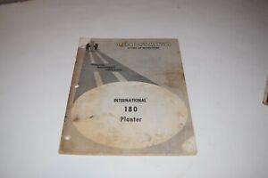 International Harvester 180 Planter Operator s Manual