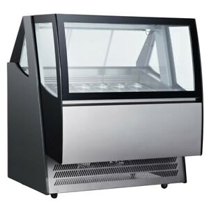 Marchia Idc48 48 Ice Cream Gelato Dipping Cabinet Display Freezer 220 Volts