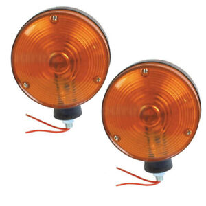 New Safety Warning Light Pair 12 Volt Fits Ford Fits New Holland Tractor Equipme