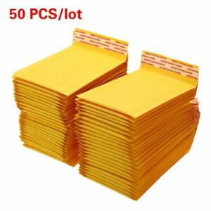 50 Pcs lot Paper Bubble Bags Mailers Shipping Envelope With Bubble Mailing Bag