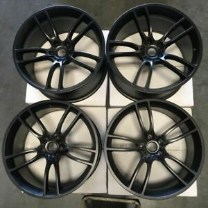 19x10 19x11 Gt Style Fit Ford Mustang 5x114 3 35 50 Matte Black Wheels Rims Set